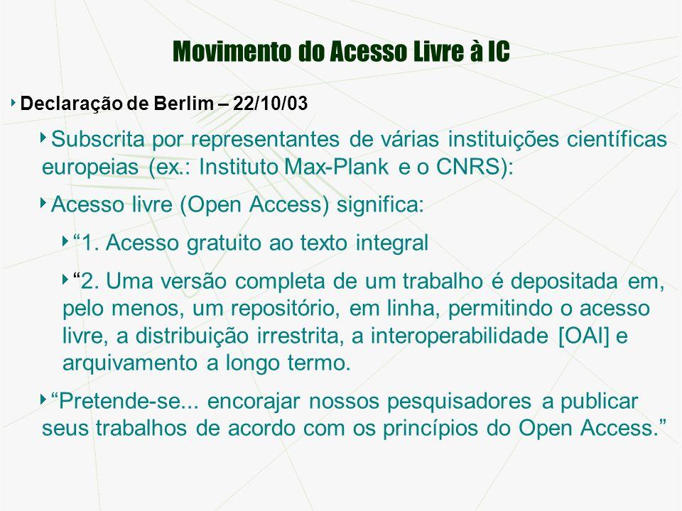 Movimento do Acesso Livre à IC