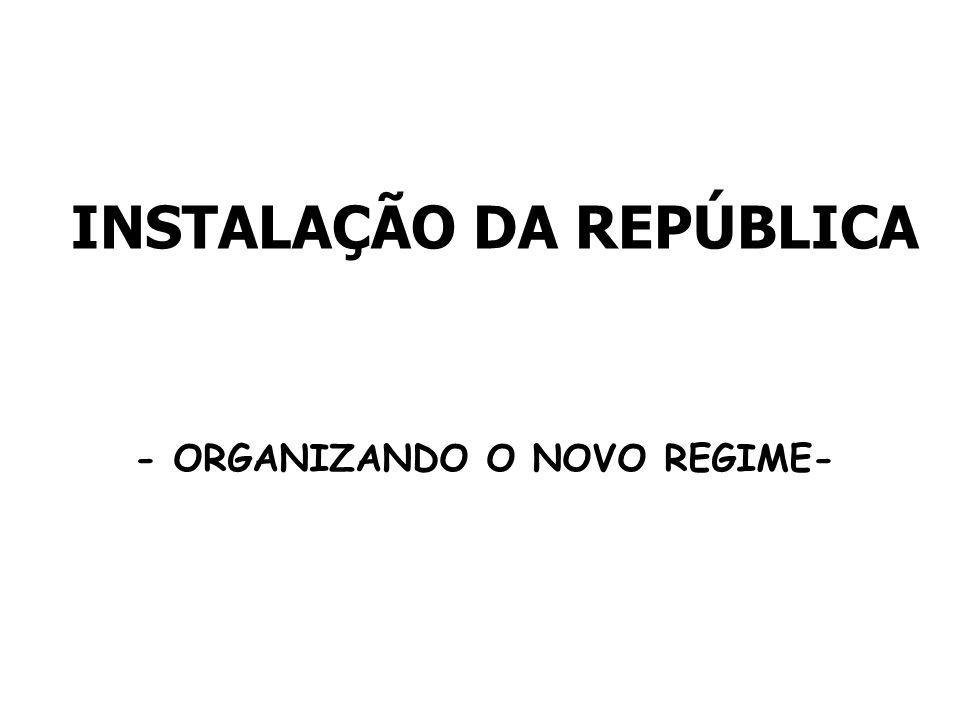 INSTALAÇÃO DA REPÚBLICA