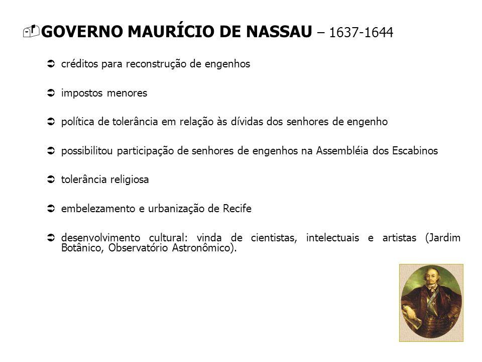GOVERNO MAURÍCIO DE NASSAU – 1637-1644