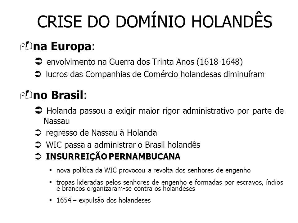 CRISE DO DOMÍNIO HOLANDÊS