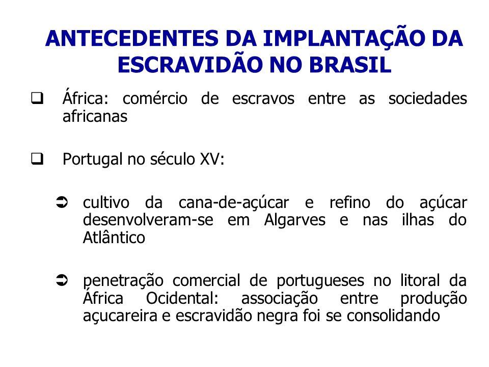 ANTECEDENTES DA IMPLANTAÇÃO DA ESCRAVIDÃO NO BRASIL
