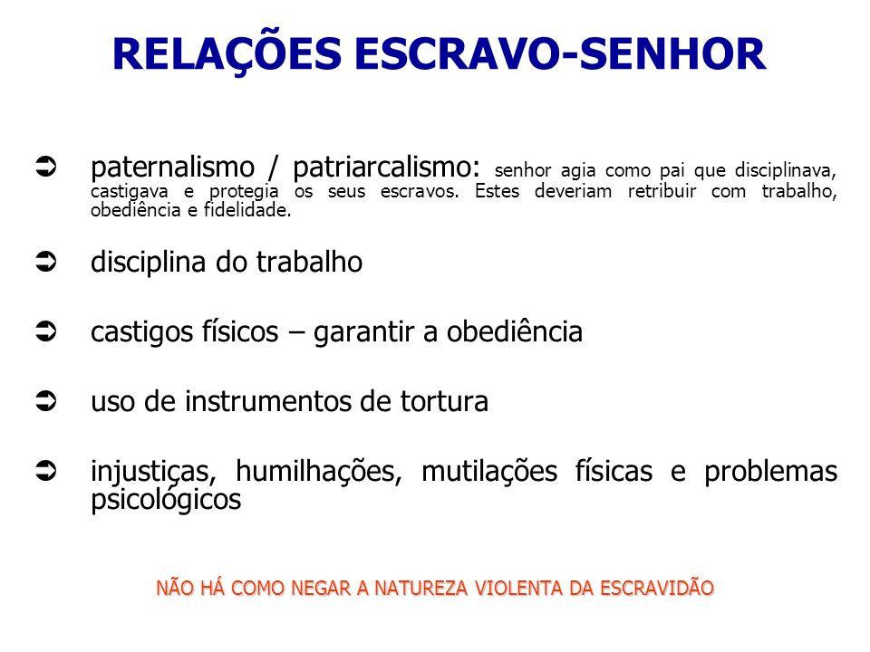 RELAÇÕES ESCRAVO-SENHOR