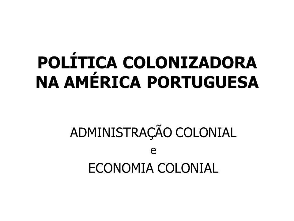 POLÍTICA COLONIZADORA NA AMÉRICA PORTUGUESA