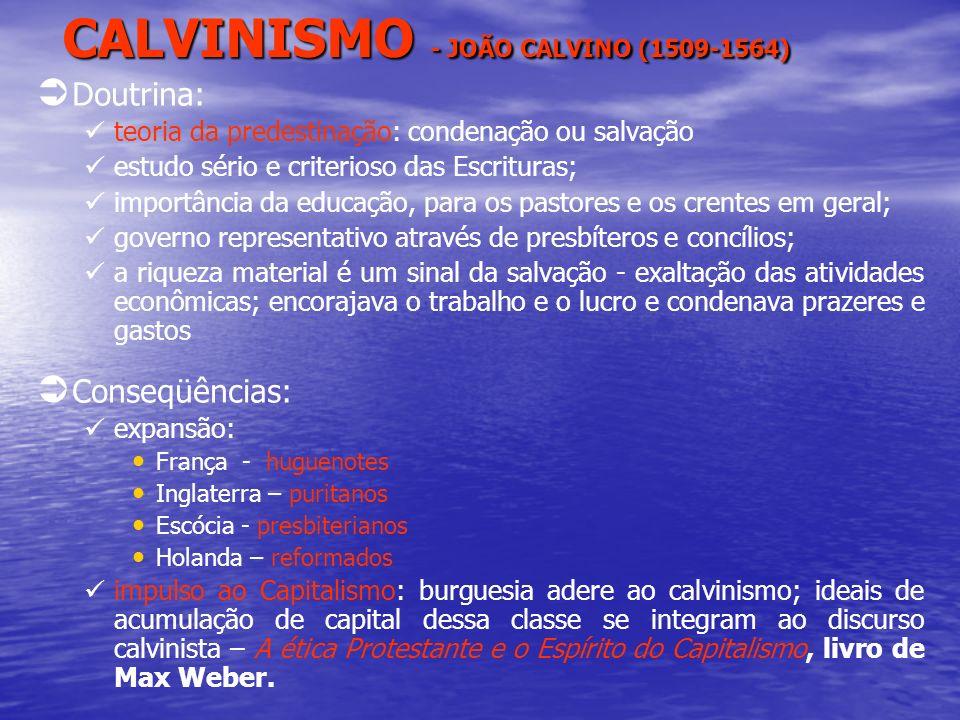 CALVINISMO - JOÃO CALVINO (1509-1564)