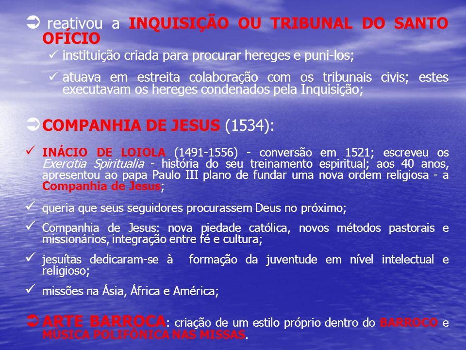 reativou a INQUISIÇÃO OU TRIBUNAL DO SANTO OFÍCIO