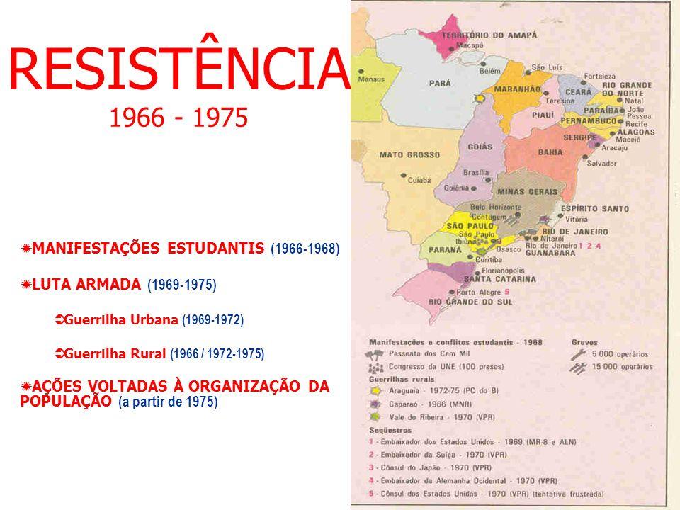 RESISTÊNCIA 1966 - 1975 MANIFESTAÇÕES ESTUDANTIS (1966-1968)