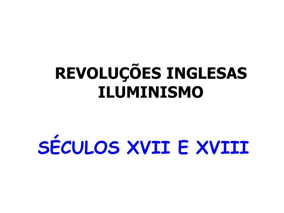 REVOLUÇÕES INGLESAS ILUMINISMO