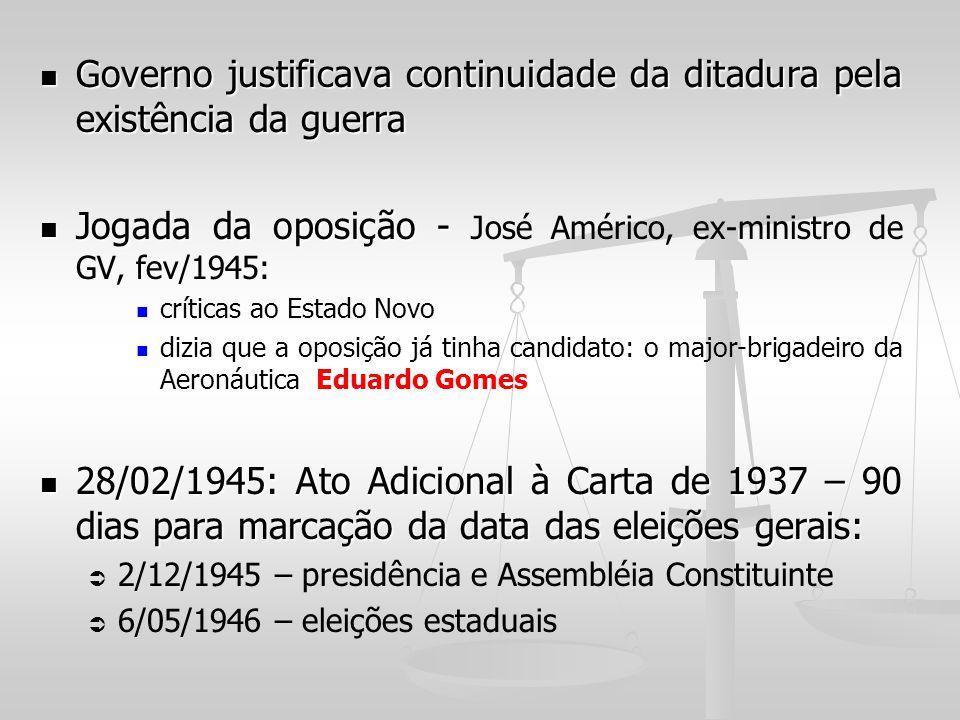 Governo justificava continuidade da ditadura pela existência da guerra