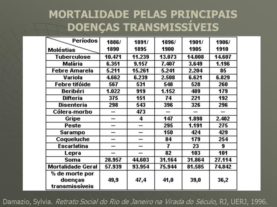 MORTALIDADE PELAS PRINCIPAIS DOENÇAS TRANSMISSÍVEIS