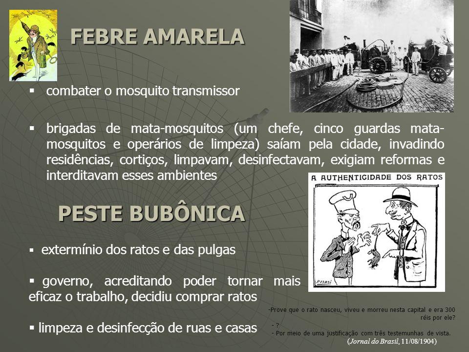 FEBRE AMARELA PESTE BUBÔNICA