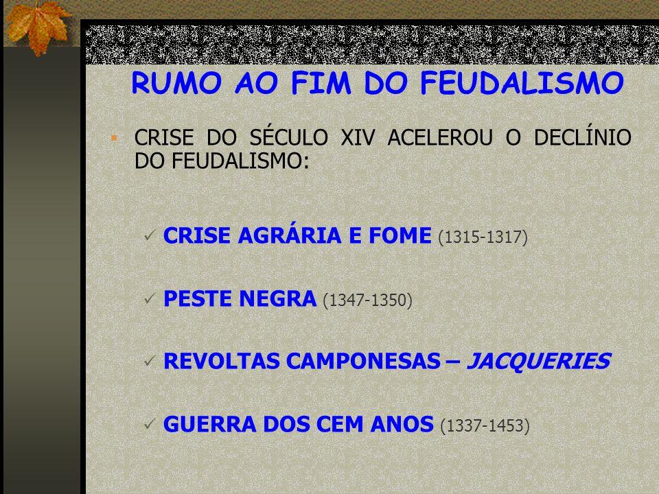 RUMO AO FIM DO FEUDALISMO