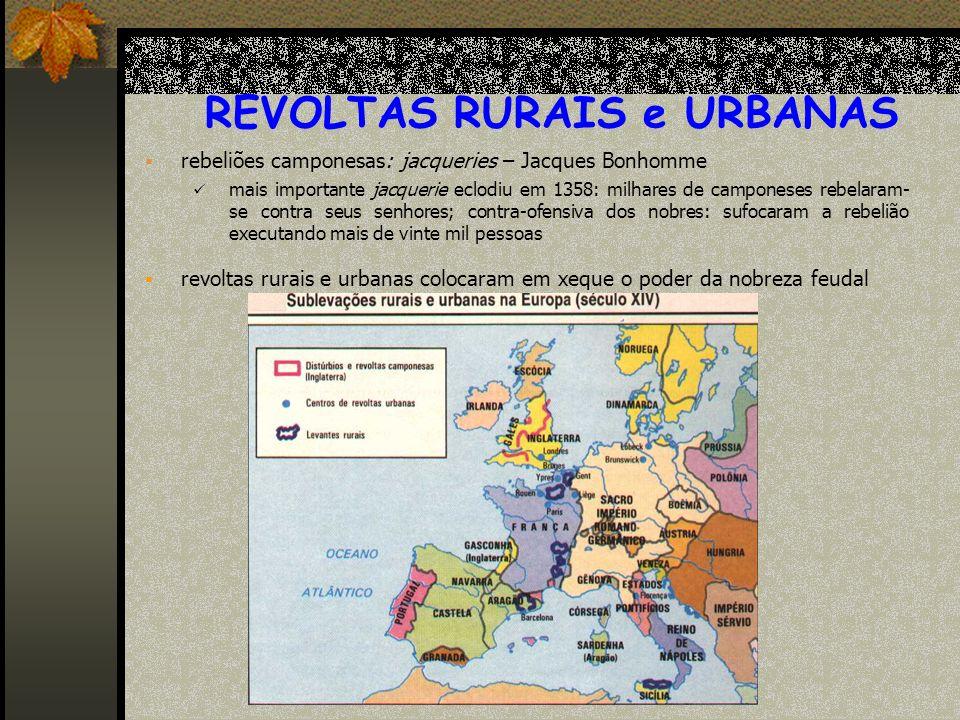 REVOLTAS RURAIS e URBANAS