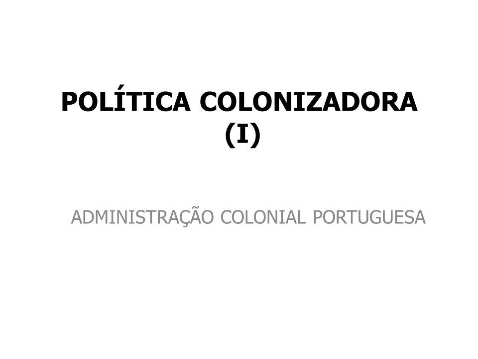 POLÍTICA COLONIZADORA (I)