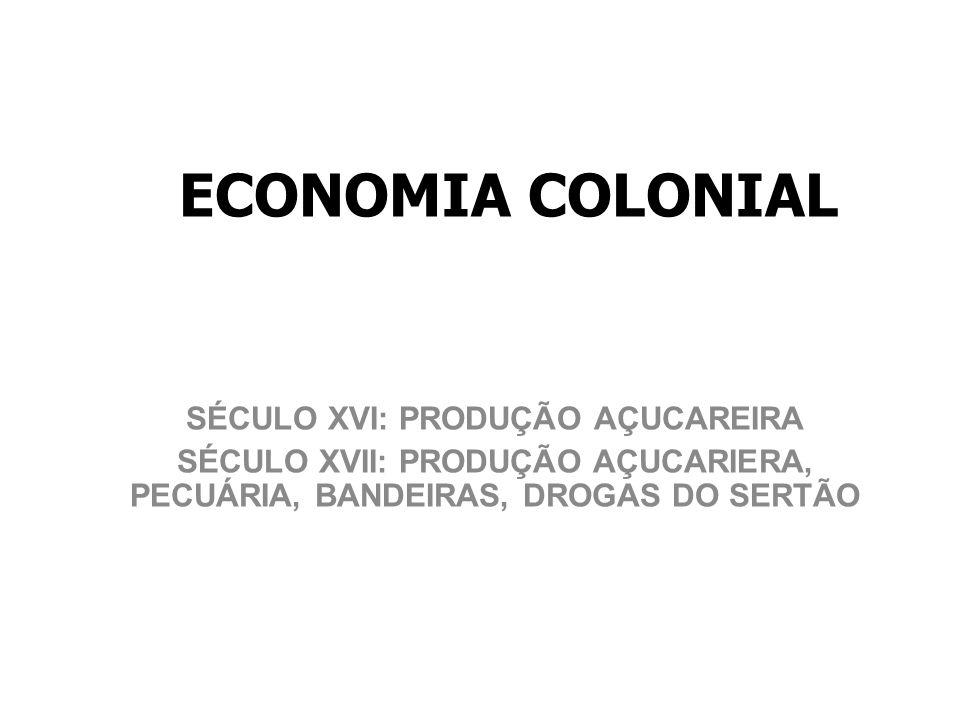 SÉCULO XVI: PRODUÇÃO AÇUCAREIRA