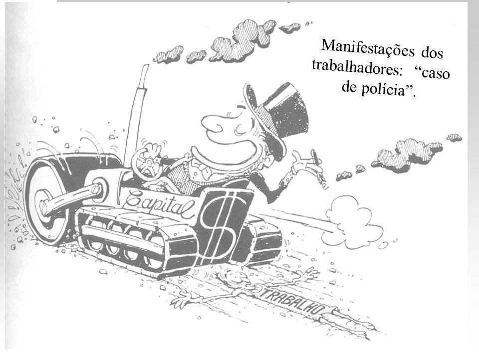 Manifestações dos trabalhadores: caso de polícia .