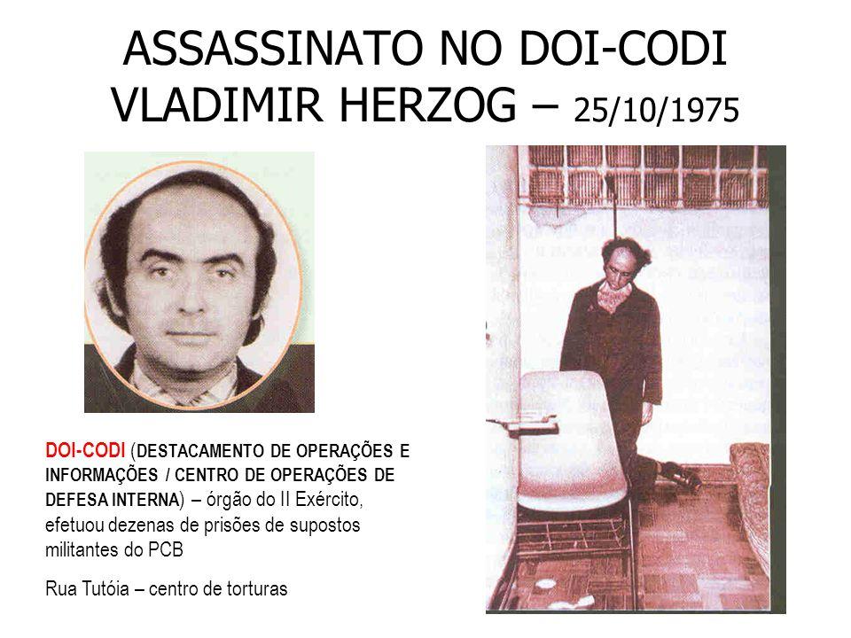 ASSASSINATO NO DOI-CODI VLADIMIR HERZOG – 25/10/1975