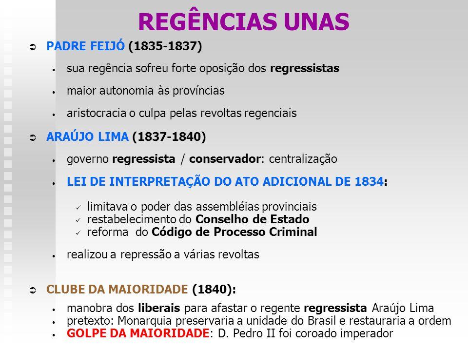 REGÊNCIAS UNAS PADRE FEIJÓ (1835-1837)