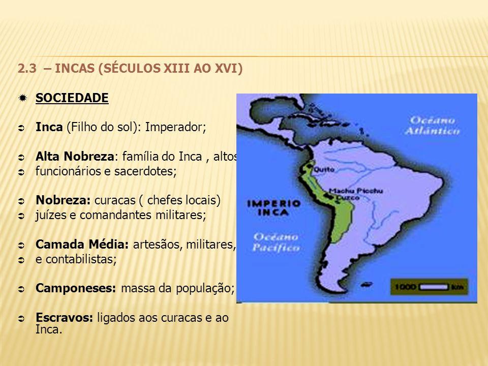 2.3 – INCAS (SÉCULOS XIII AO XVI)