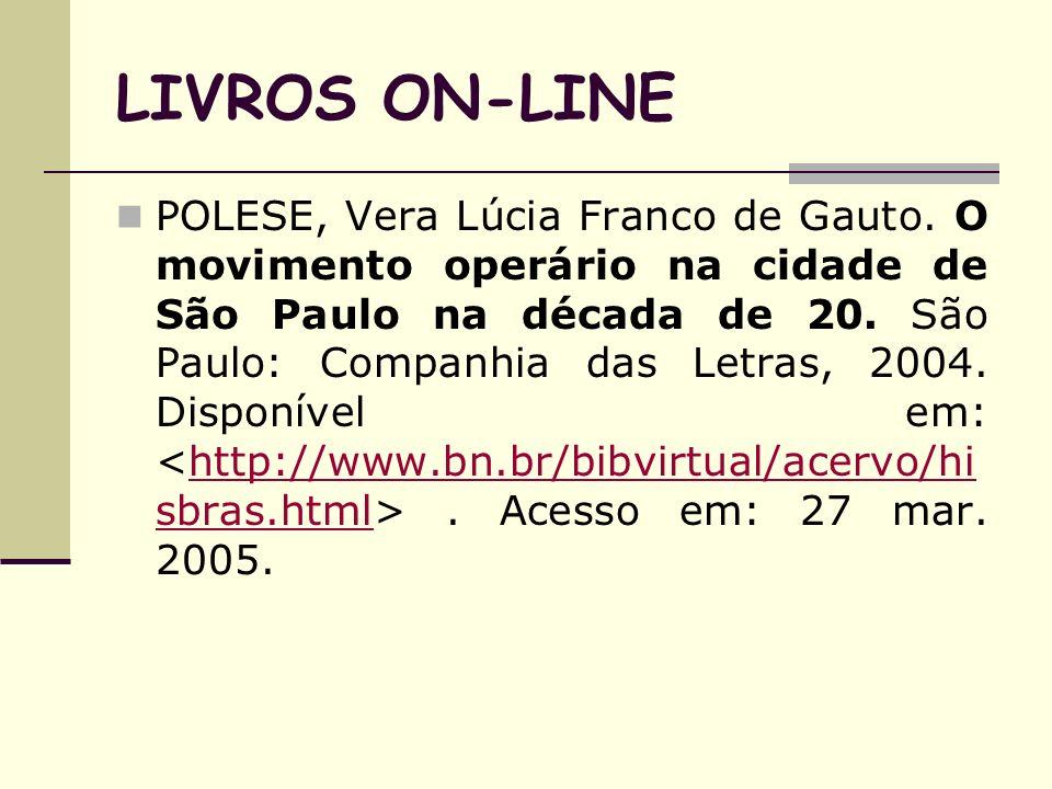 LIVROS ON-LINE