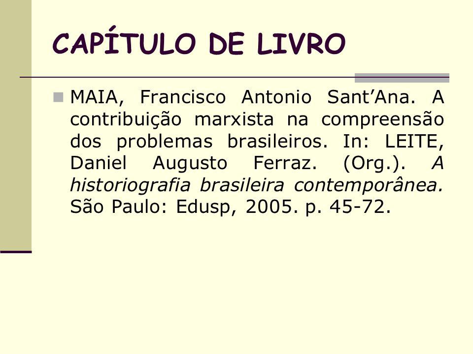 CAPÍTULO DE LIVRO
