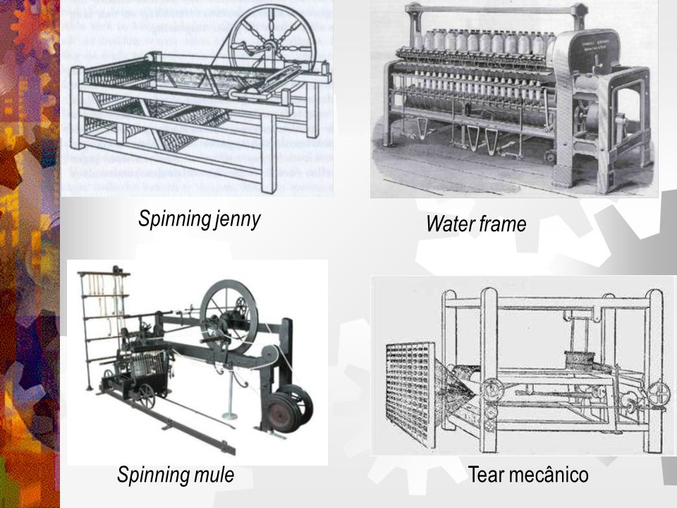 Spinning jenny Water frame Spinning mule Tear mecânico