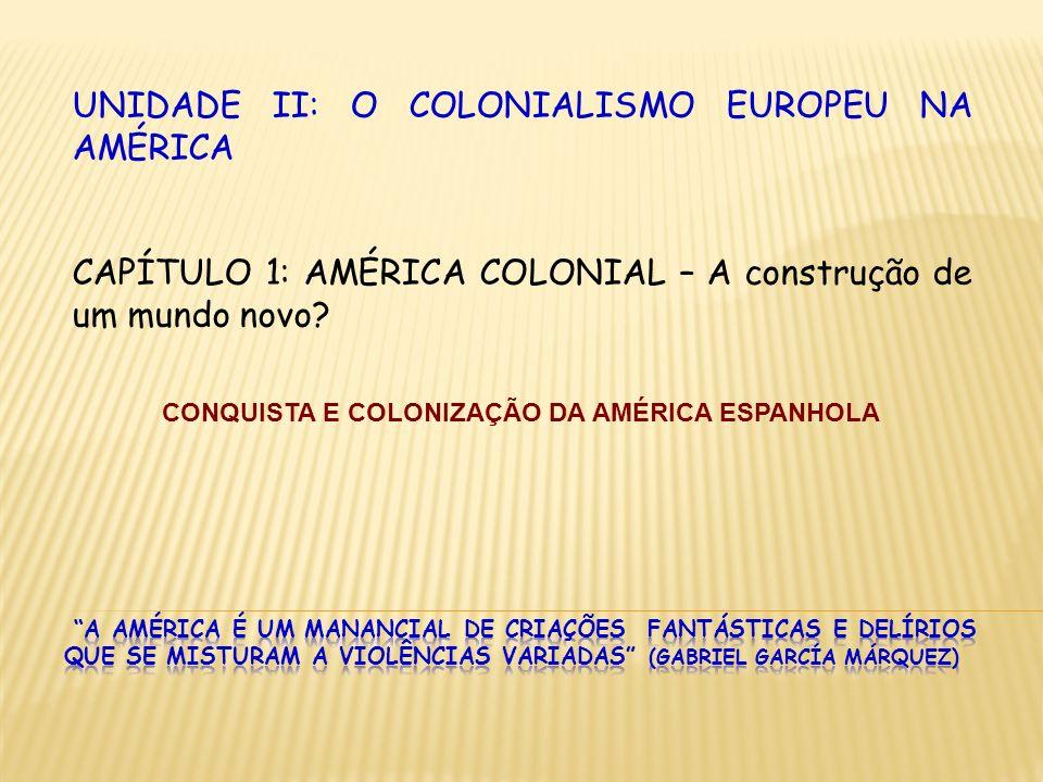 CONQUISTA E COLONIZAÇÃO DA AMÉRICA ESPANHOLA