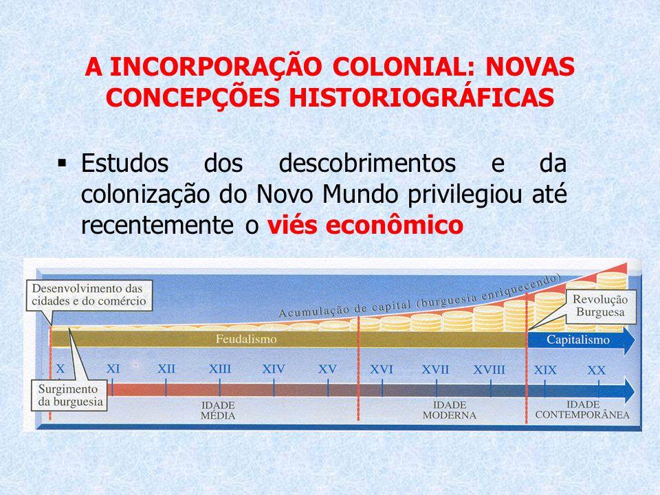 A INCORPORAÇÃO COLONIAL: NOVAS CONCEPÇÕES HISTORIOGRÁFICAS
