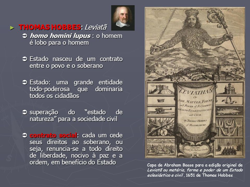 THOMAS HOBBES: Leviatã