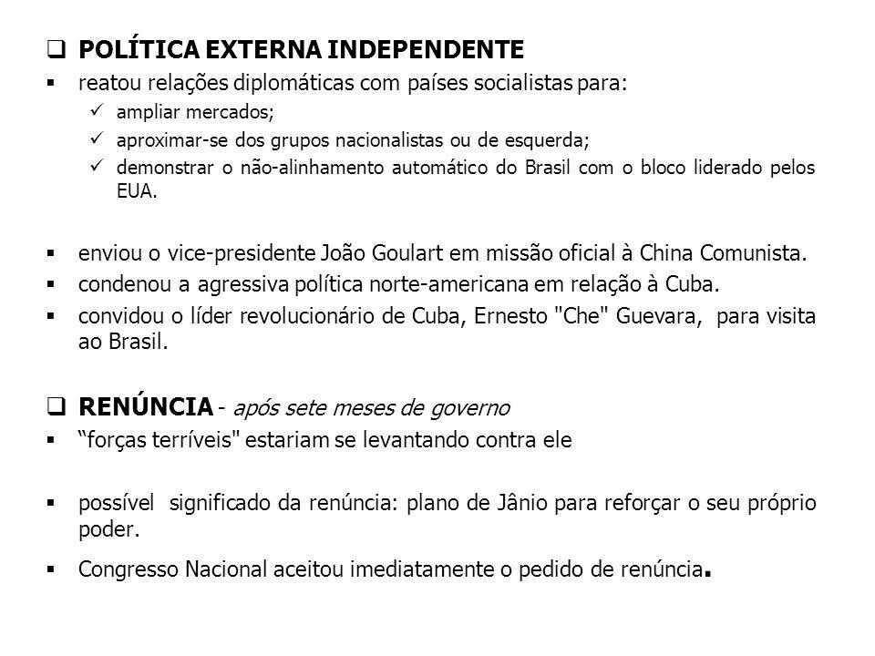 POLÍTICA EXTERNA INDEPENDENTE