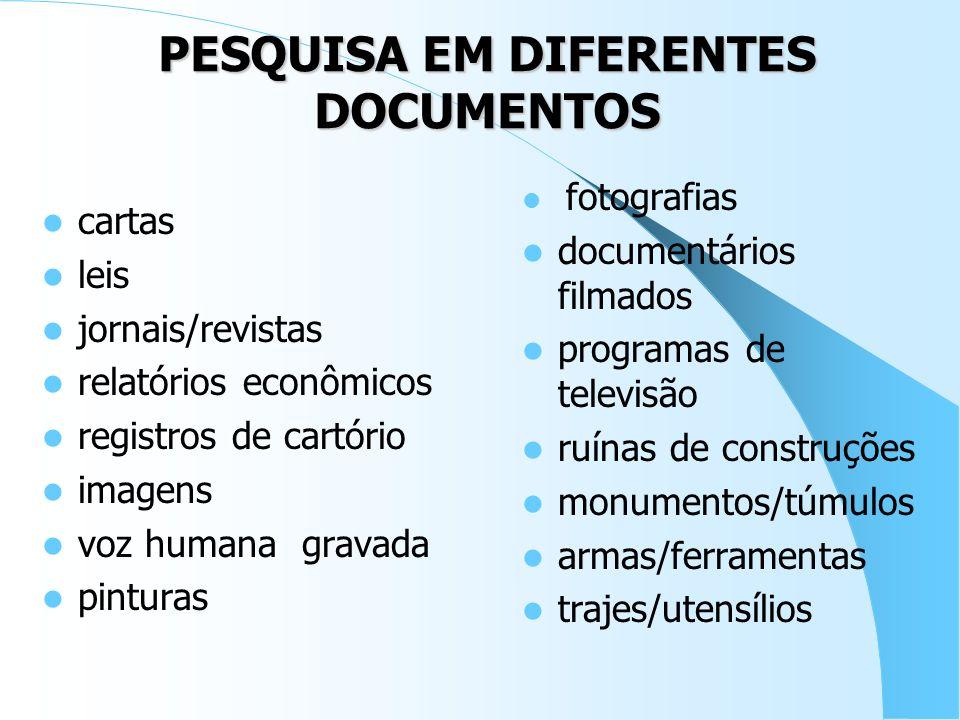 PESQUISA EM DIFERENTES DOCUMENTOS