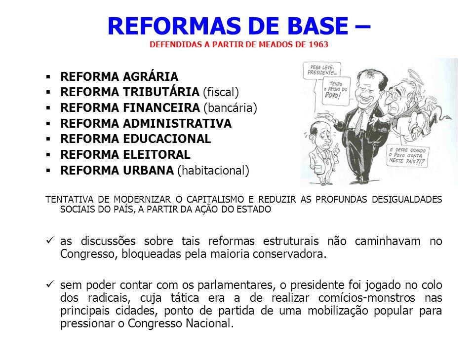 REFORMAS DE BASE – DEFENDIDAS A PARTIR DE MEADOS DE 1963