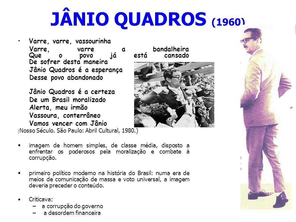 JÂNIO QUADROS (1960) Varre, varre, vassourinha