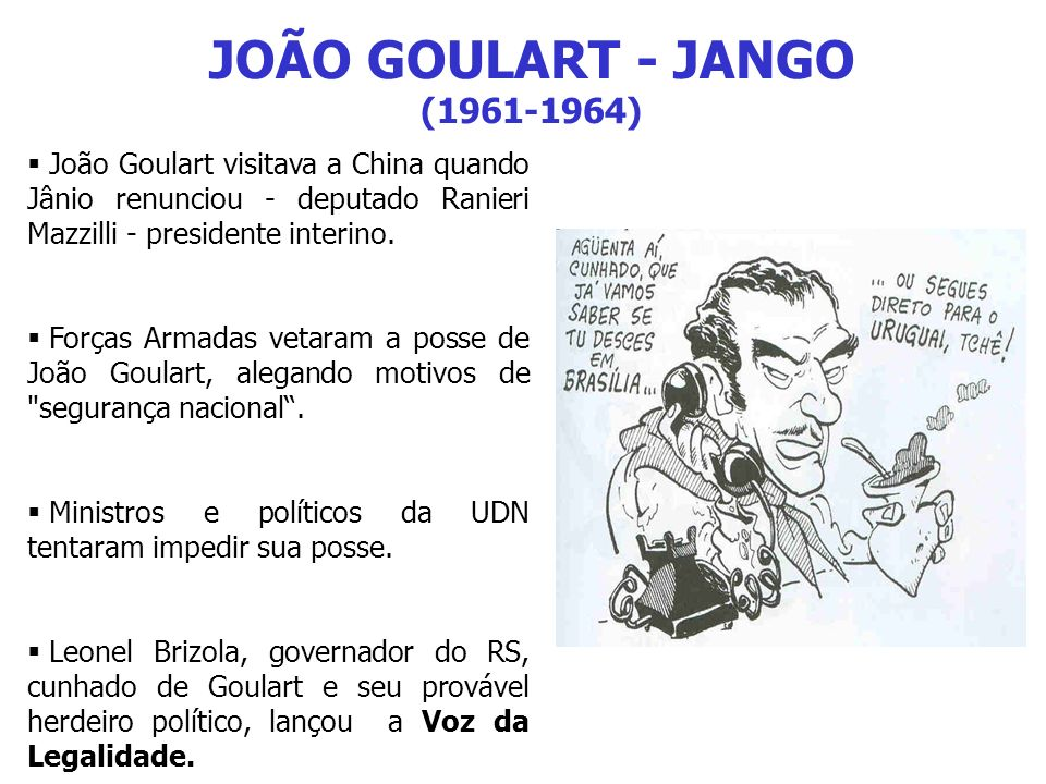 JOÃO GOULART - JANGO (1961-1964)