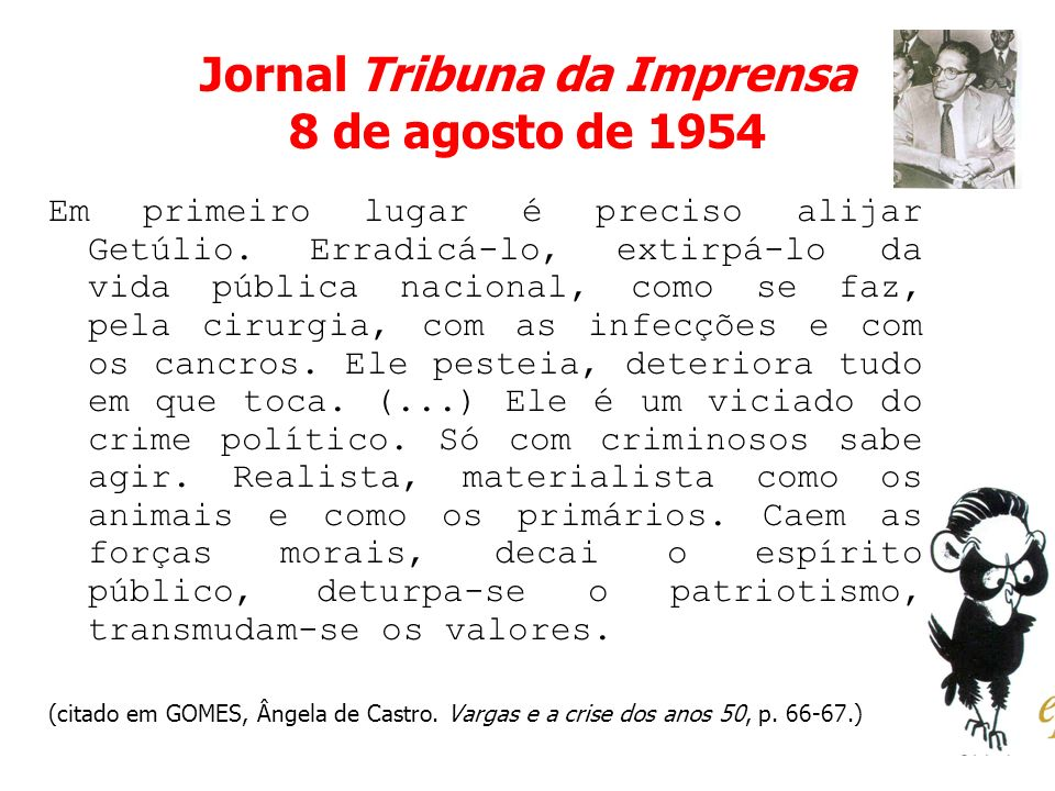 Jornal Tribuna da Imprensa 8 de agosto de 1954