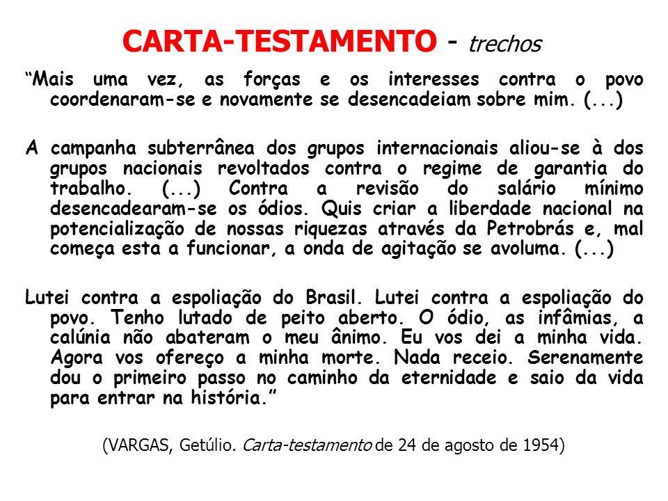 CARTA-TESTAMENTO - trechos