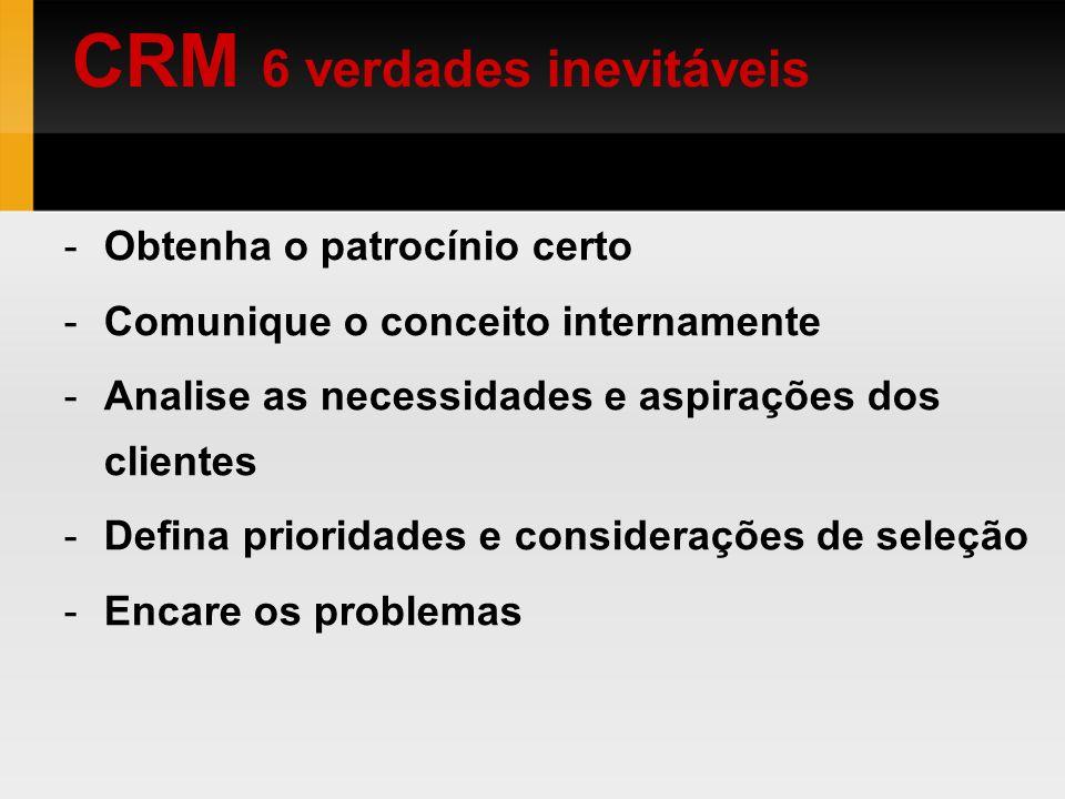 CRM 6 verdades inevitáveis