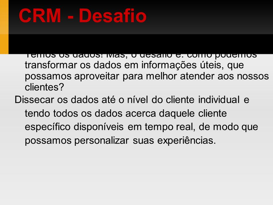 CRM - Desafio