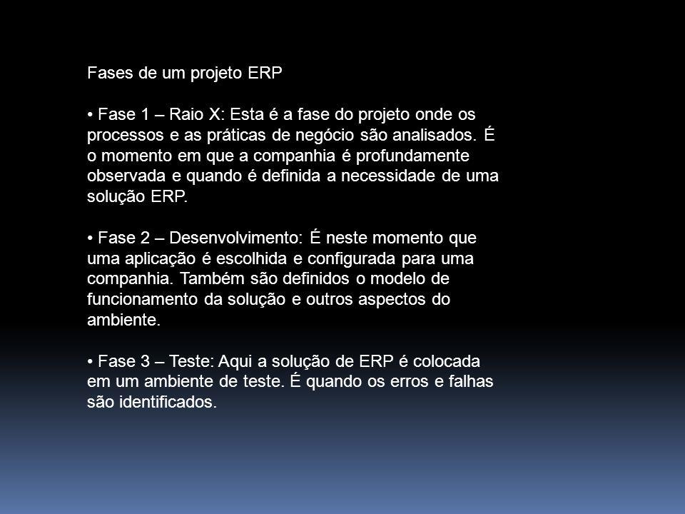 Fases de um projeto ERP