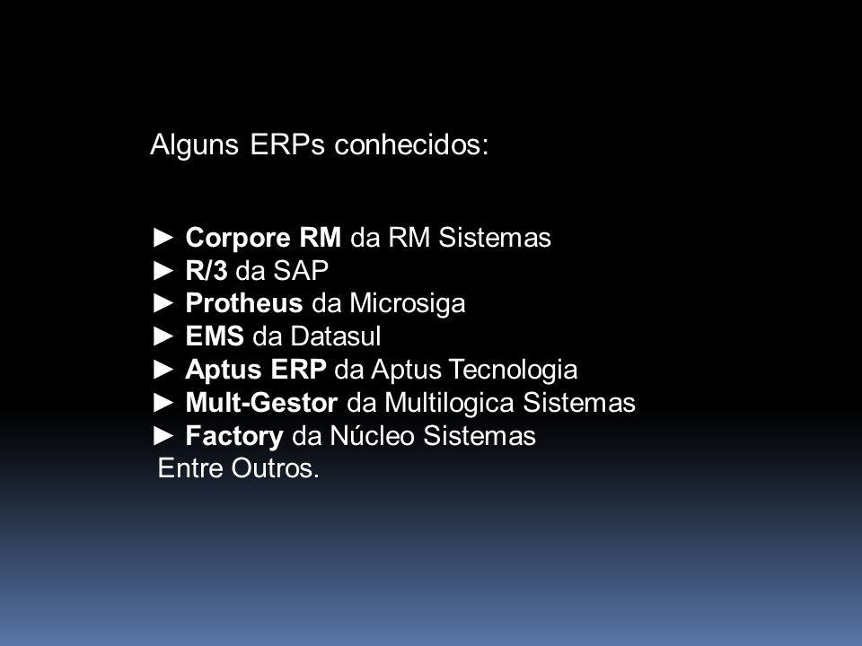 Alguns ERPs conhecidos: