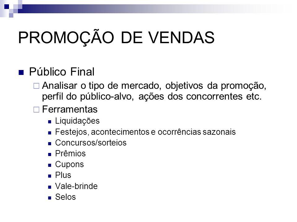PROMOÇÃO DE VENDAS Público Final