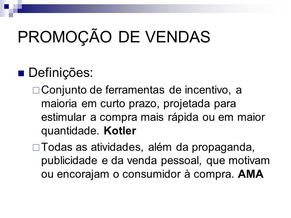 PROMOÇÃO DE VENDAS Definições: