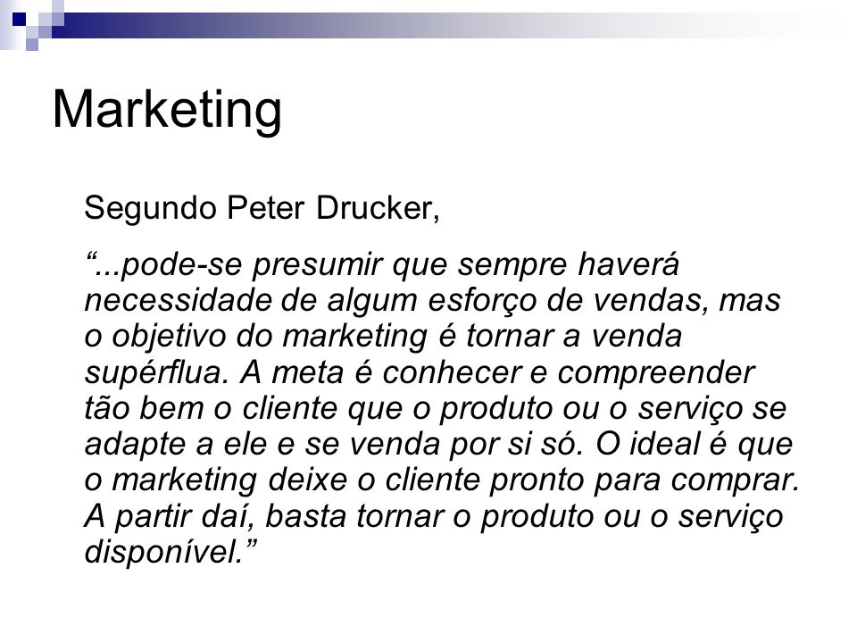Marketing Segundo Peter Drucker,