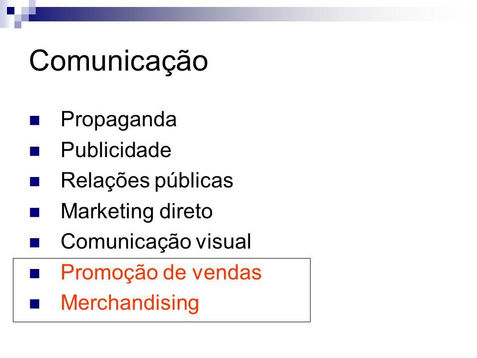 Comunicação Propaganda Publicidade Relações públicas Marketing direto