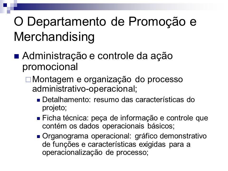 O Departamento de Promoção e Merchandising