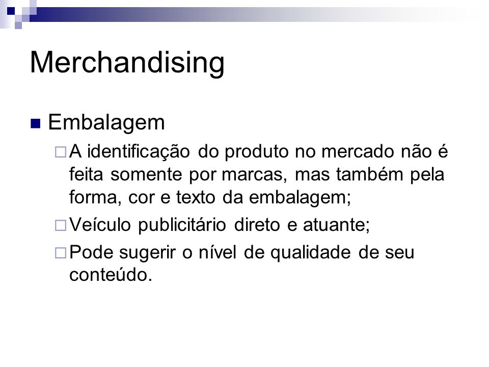 Merchandising Embalagem
