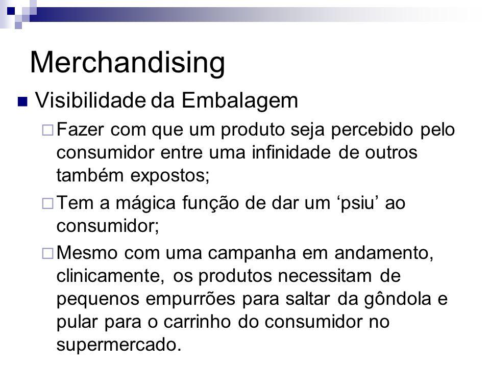 Merchandising Visibilidade da Embalagem