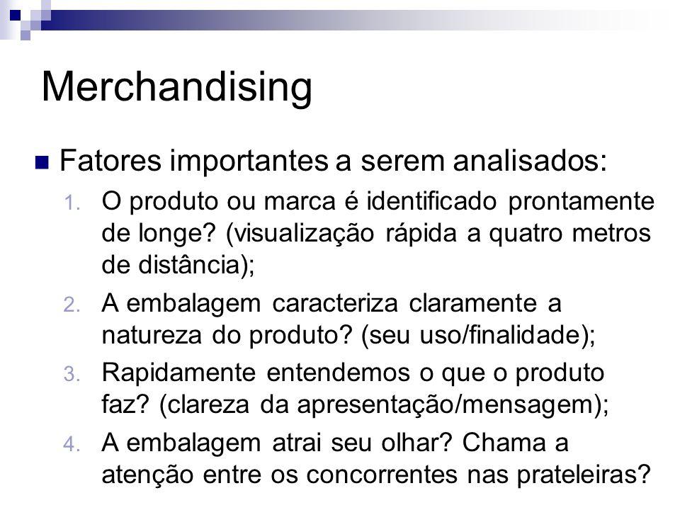 Merchandising Fatores importantes a serem analisados: