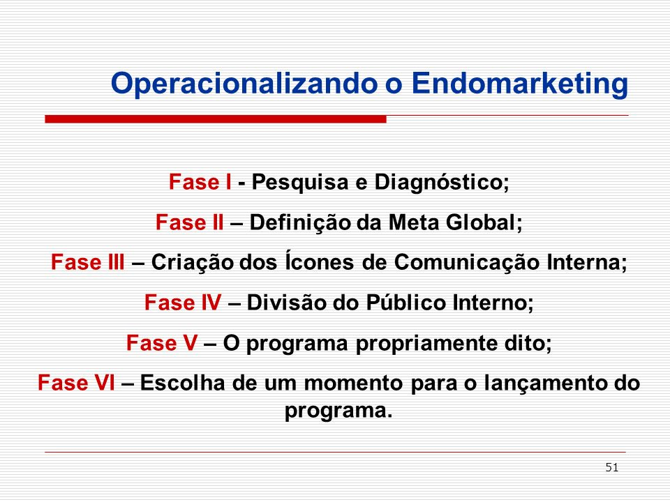 Operacionalizando o Endomarketing