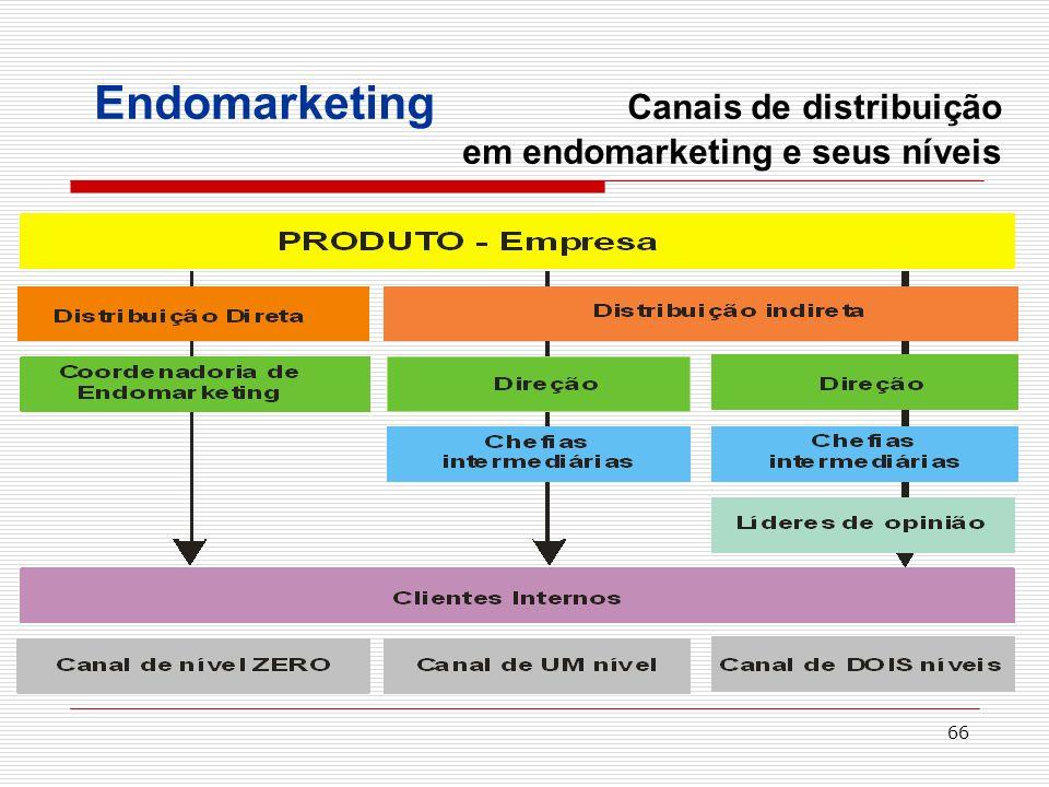 Endomarketing Canais de distribuição em endomarketing e seus níveis