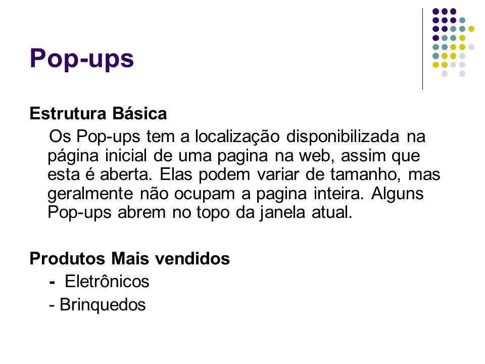 Pop-ups Estrutura Básica